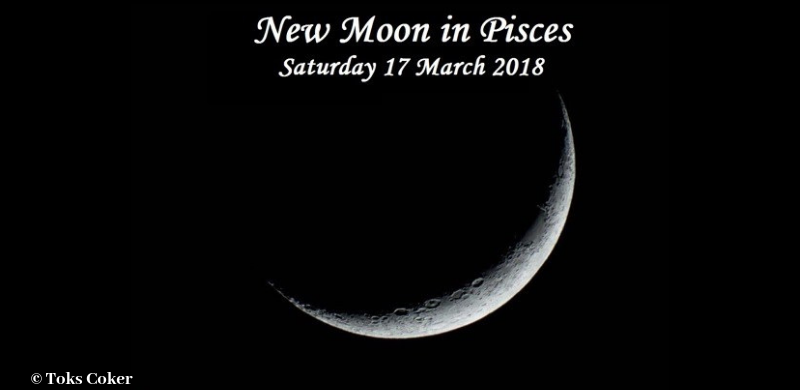 New Moon in Pisces 17 March 2018